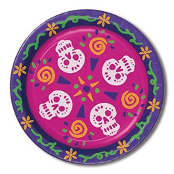These Day Of The Dead Plates are perfect for your festivities. Celebrate the dead with these colorful decorated tableware.