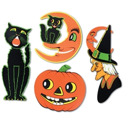 Retro Vintage Halloween Cutouts - from Halloween legend Beistle Company!