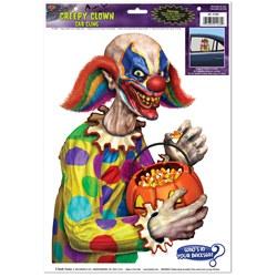creepy clown backseat driver car cling