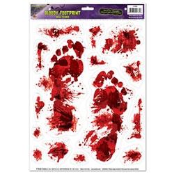 bloody footprints peel n place