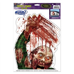 zombie car cling
