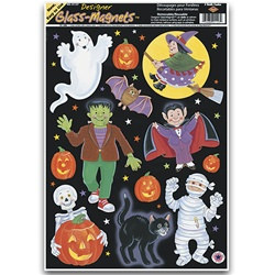 halloween character window clings