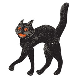 Jointed Scratch Cat - a classic Halloween decoration from the classic Halloween decoration manufaturer, the Beistle Company!