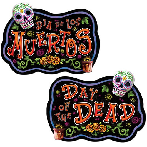 Day Of The Dead Sign (1/pkg)