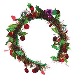 Holiday Tinsel Garland Headband