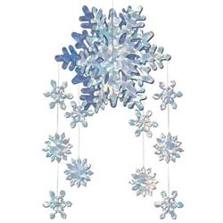 3-D snowflake mobil