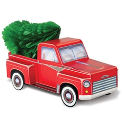 3-D Christmas Truck Centerpiece