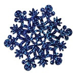 Blue Prismatic Snowflake Cutout