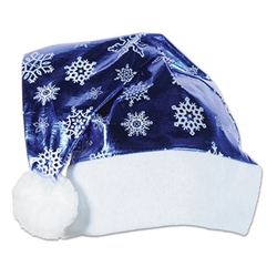 metallic blue santa hat