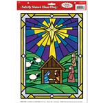 Nativity Stained Glass Cling