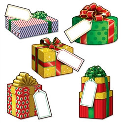 Mini Christmas Gift Cutouts