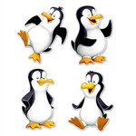Penguin Cutouts (4 pcs/pkg)