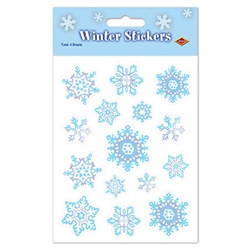 Snowflake Stickers (4 sheets/pkg)