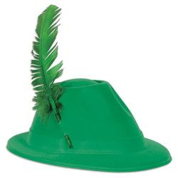 Green Velour Apline Hat