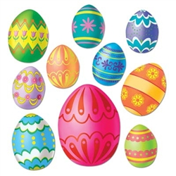 Colorful Easter Egg Cutouts