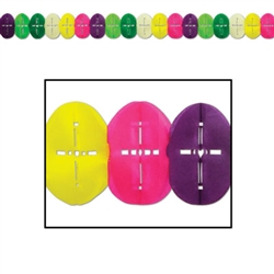Religious Easter Egg Tissue Garland