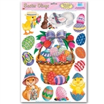 Easter Basket Window Clings (13/sheet)