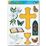 Religious/Easter Window Clings (9/sheet)