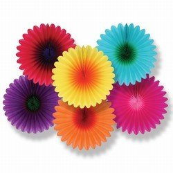Mini Flower Fans - add color and style to any room!
