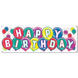 happy birthday sign banner