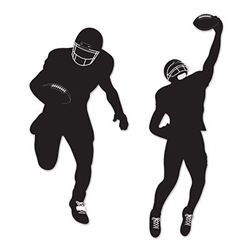 Decorate your walls for the big game with the Football Silhouettes. Each package features two silhouettes striking a different action pose.