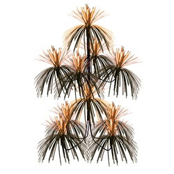 orange and black firework chandelier