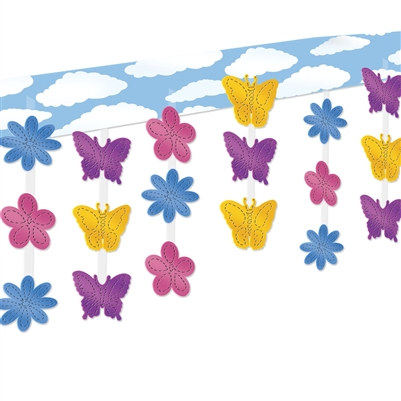 butterfly and flower 3 d ceiling decor