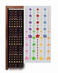 Daisy Bead Curtain, 78inx24in  (1/Pkg)