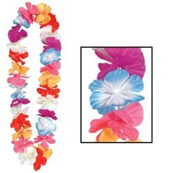 silk n petals parti-color leis