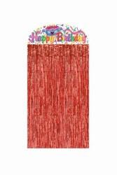 birthday cake character curtain