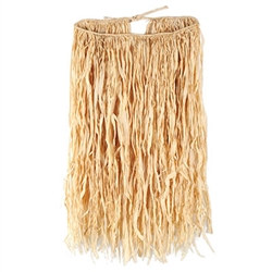 Deluxe Raffia Hula Skirt Adult natural