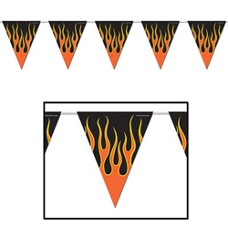 Flame Pennant Banner, 12 ft