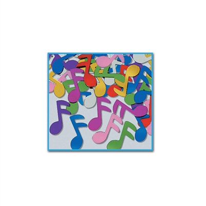 Multi Color Music Notes Fanci Fetti Silhouette