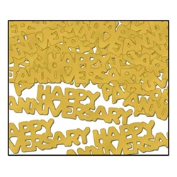 Gold Happy Anniversary Fanci Fetti