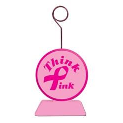 Pink Ribbon Photo/Balloon Holder