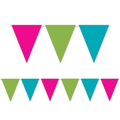 cerise light green and turquoise indoor/outdoor banner