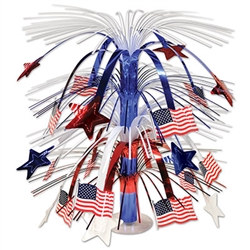 Red White and Blue Flag Cascade Centerpiece