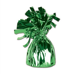 Green Metallic Wrapped Balloon Weight