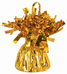 Gold Metallic Wrapped Balloon Weight