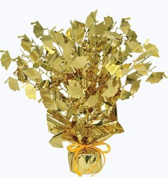 Gold Graduate Cap Gleam N Burst Centerpiece