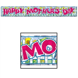 metallic happy mothers day fringe banner