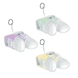 Baby Shoes Photo/Balloon Holder