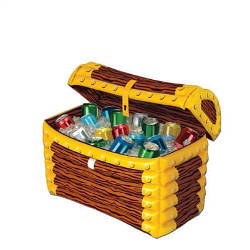 This Inflatable Treasure Chest Cooler will keep your drink treasure cool and style to your pirate themed party.