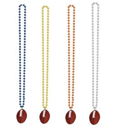 Beads with Football Medallions