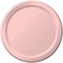 pink lunch plates