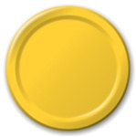 Yellow Lunch Plates (24/pkg)