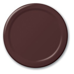 Chocolate Brown Dessert Plates (24/pkg)