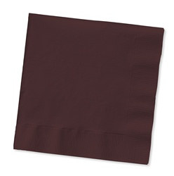 Chocolate Brown Lunch Napkins (50/pkg)