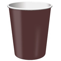 Chocolate Brown Hot/Cold Cups (24/pkg)