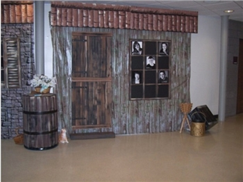 Our Barn Siding Backdrop is just what you need for a farm, western or halloween themed party.